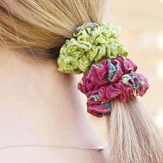 World Finds Sari Chic Mini Scrunchies