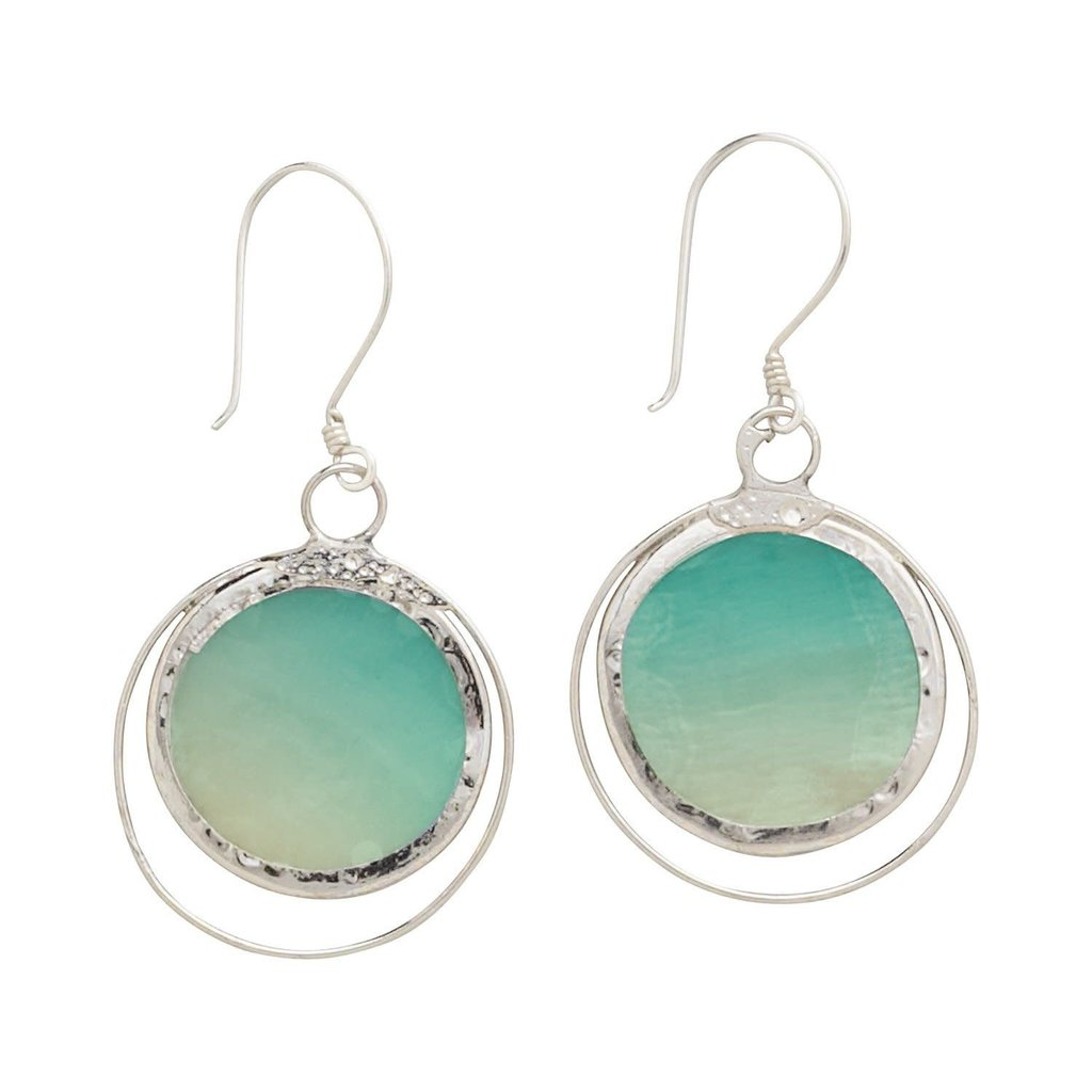 Ten Thousand Villages Sea Horizon Earrings