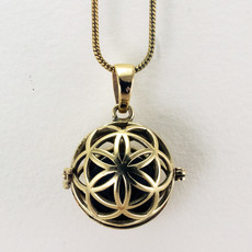 DZI Handmade Seed of Life Diffuser Necklace