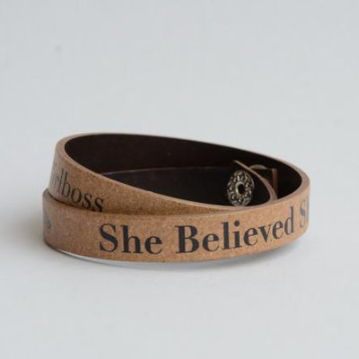 Fair Anita She Believed She Could So She Did Leather Wrap Bracelet