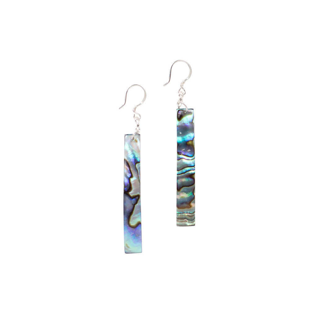 Ten Thousand Villages Shell Sliver Earrings