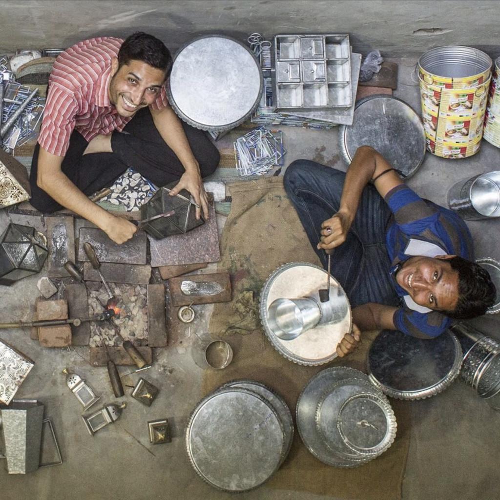 Ten Thousand Villages Shovel & Pitchfork Stainless Steel Salad Servers
