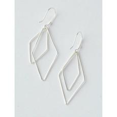 Fair Anita Silver Double Rhombus Earrings