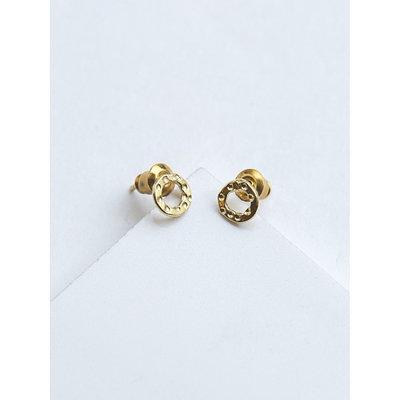 Fair Anita Simple Brass Circle Stud Earrings