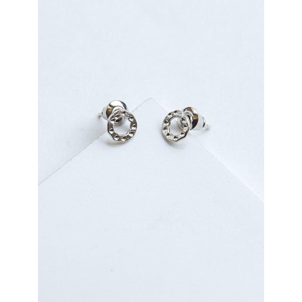 Fair Anita Simple Silver Circle Stud Earrings