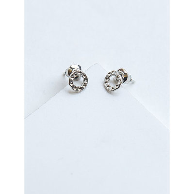 Fair Anita Simple Silver Circle Stud Earrings