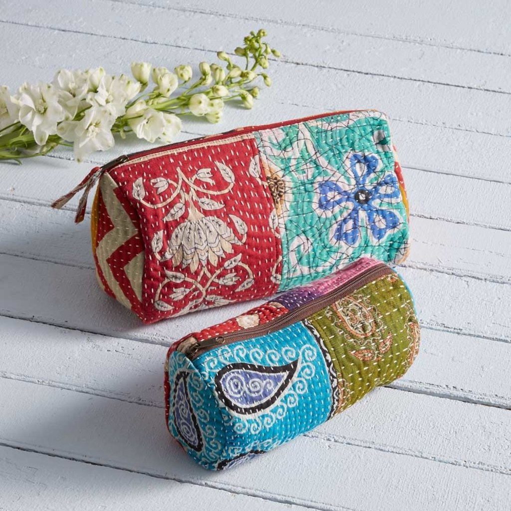 Serrv Small Kantha Cosmetic Bag