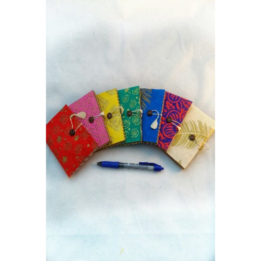 Ganesh Himal Small Lokta Paper Journal with Colorful Pages