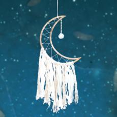 DZI Handmade Small Moon with Crystal Wall Hanging