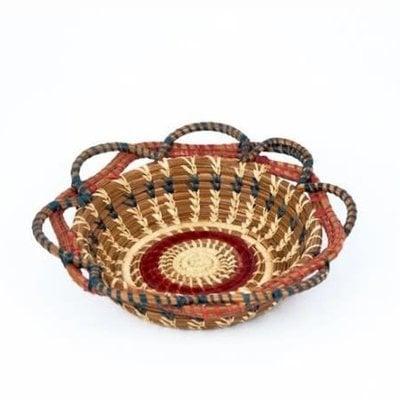 Mayan Hands Small Noelia Pine Needle and Wild Grass Basket