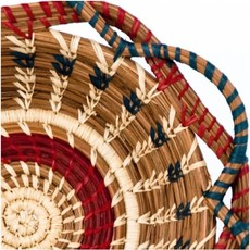 Mayan Hands Small Noelia Pine Needle and Wild Grass Basket