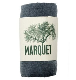 Marquet Fair Trade Smoke Binh Minh Silk and Cotton Shawl