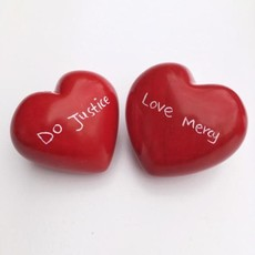 Venture Imports Soapstone Heart Paperweight Hand Carved
