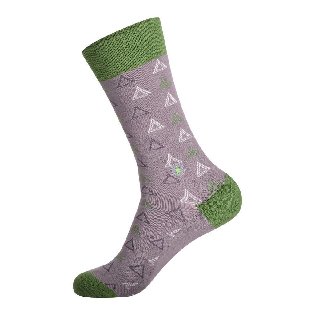 Conscious Step Socks That Plant Trees: Green & Grey Triangles
