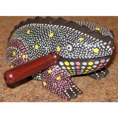 Ten Thousand Villages Spotted Frog Rasp Musical Instrument
