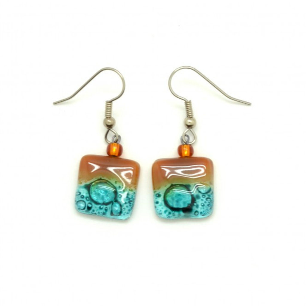 Dunitz & Co Square Drop Assorted Glass Earrings