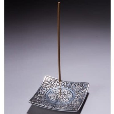Maroma Square Metal Incense Holder with Design