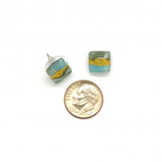 Dunitz & Co Square Stud Assorted Glass Earrings