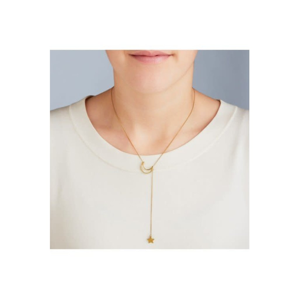 Ten Thousand Villages Star Catcher Necklace with Crescent Moon