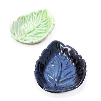 Ganesh Himal Stoneware Leaf Ceramic Soap