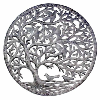 Global Crafts Stormy Tree of Life Drum Art