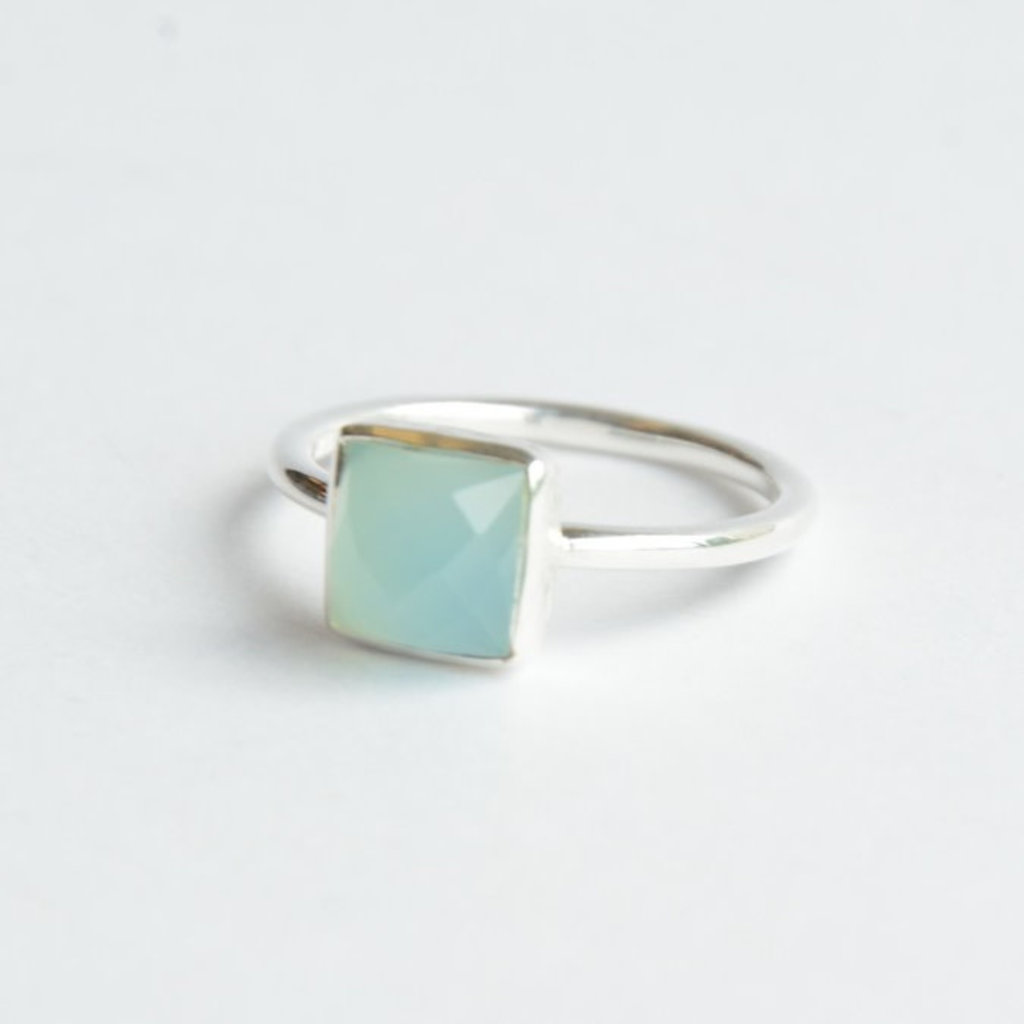 Fair Anita Sultry Sea Sterling and Chalcedony Ring