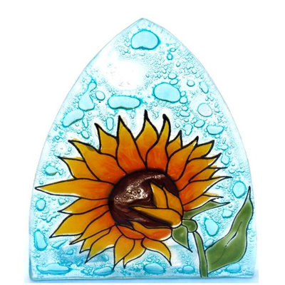 PamPeana Sunflower Fused Glass Night Light
