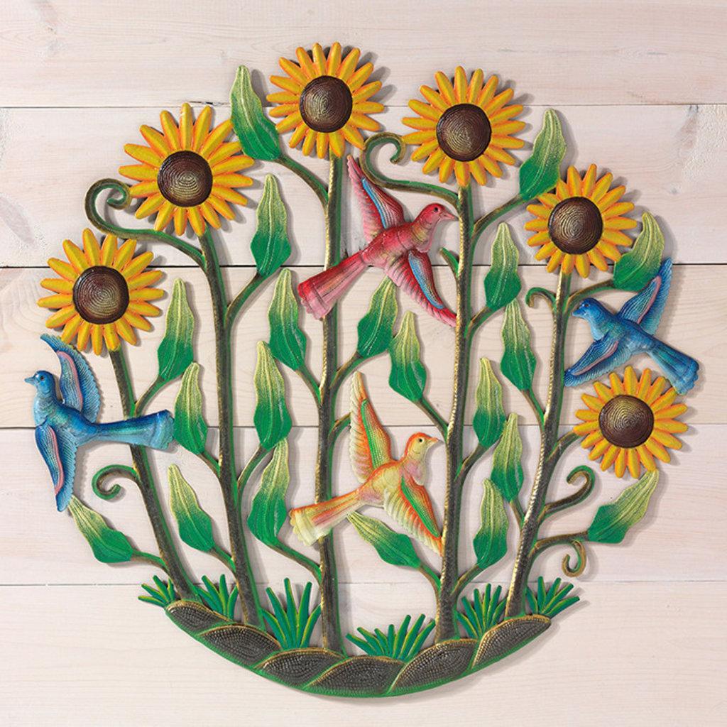 Serrv Sunflower Garden Drum Art