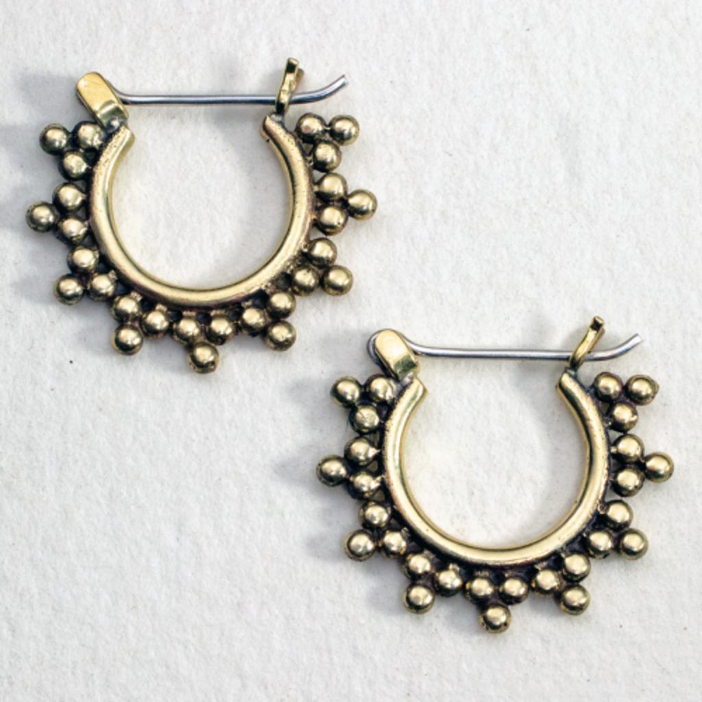 DZI Handmade Sunset Hoop Earrings