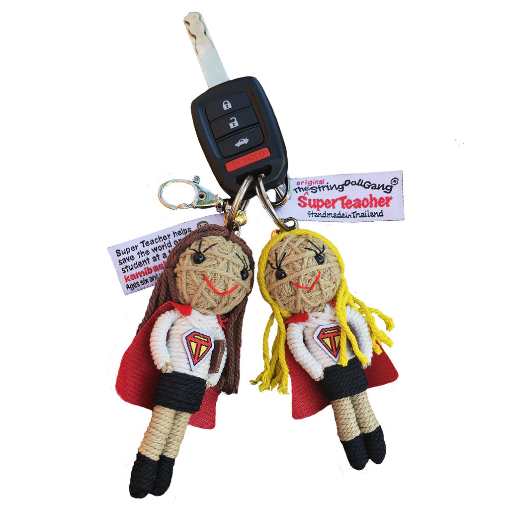 Kamibashi Super Teacher Long Hair String Doll Keychain