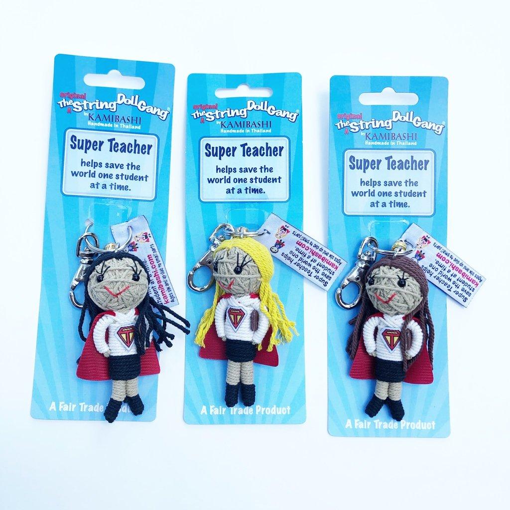 Kamibashi Super Teacher Girl String Doll Keychain