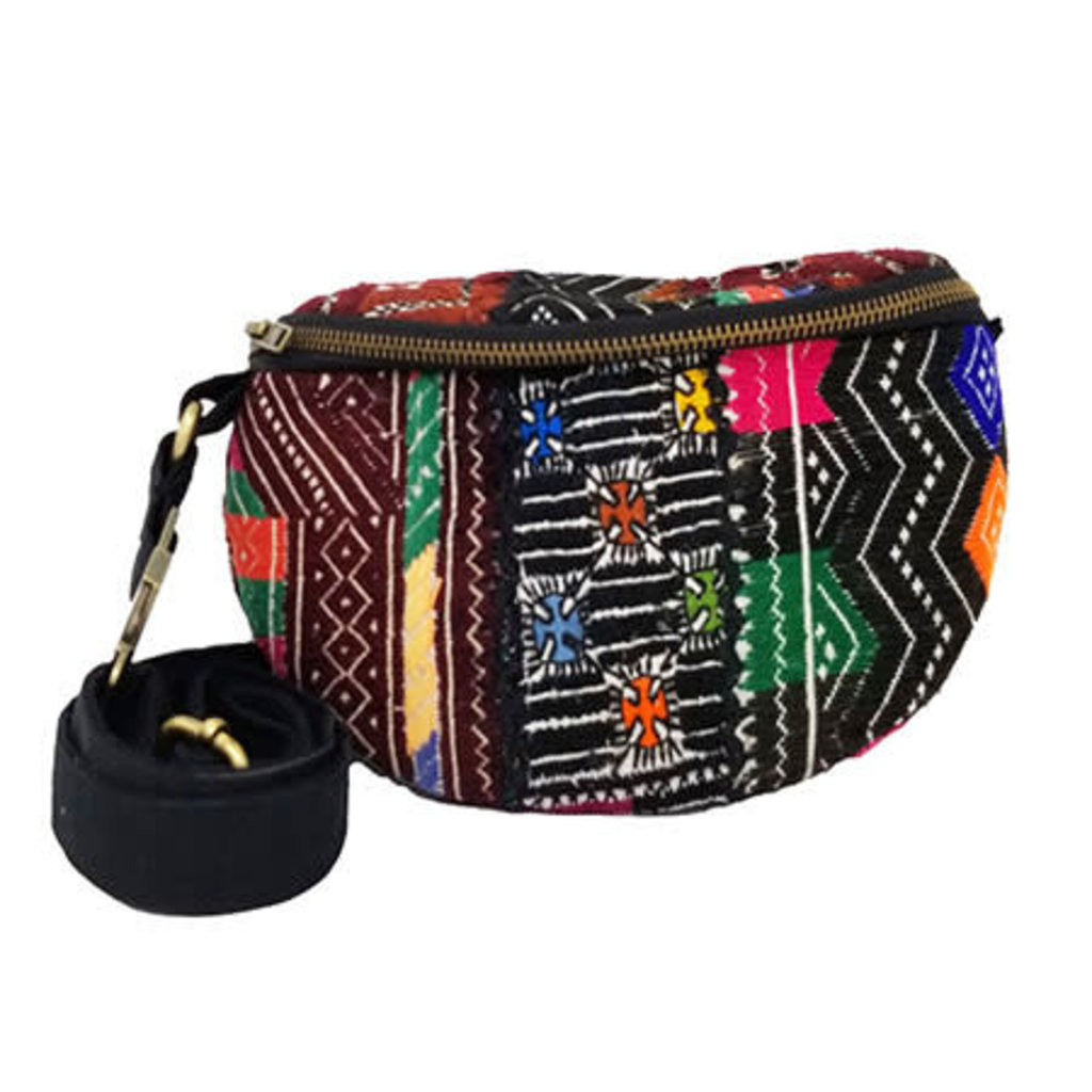 World Finds Suzani Textile Belt Bag