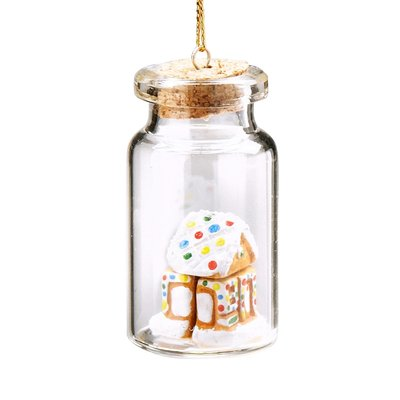 Ten Thousand Villages Sweet Little Home in a Bottle Ornament