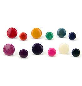 Minga Imports Tagua 10mm Round Stud Earrings