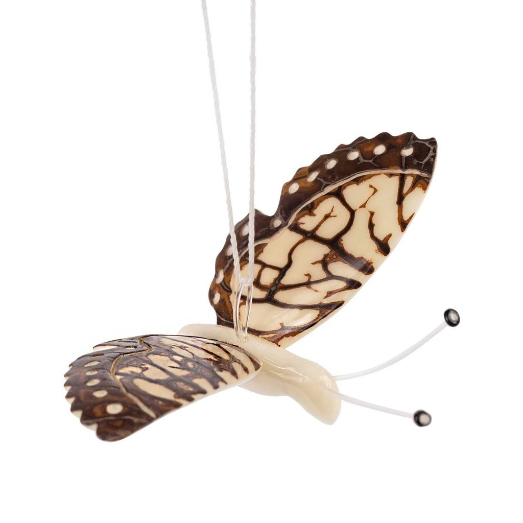 Ten Thousand Villages Tagua Butterfly Ornament