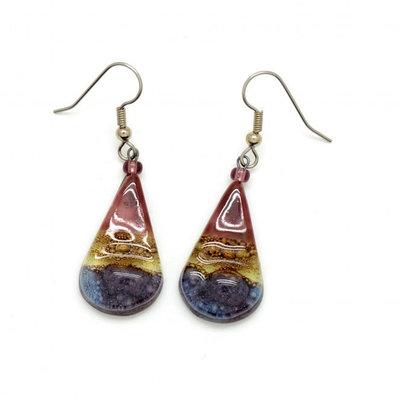 Dunitz & Co Teardrop Glass Earrings