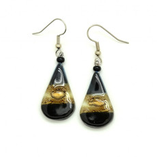 Dunitz & Co Teardrop Glass Earrings
