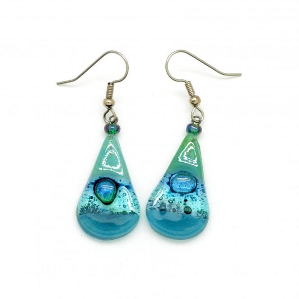Dunitz & Co Teardrop Assorted Glass Earrings