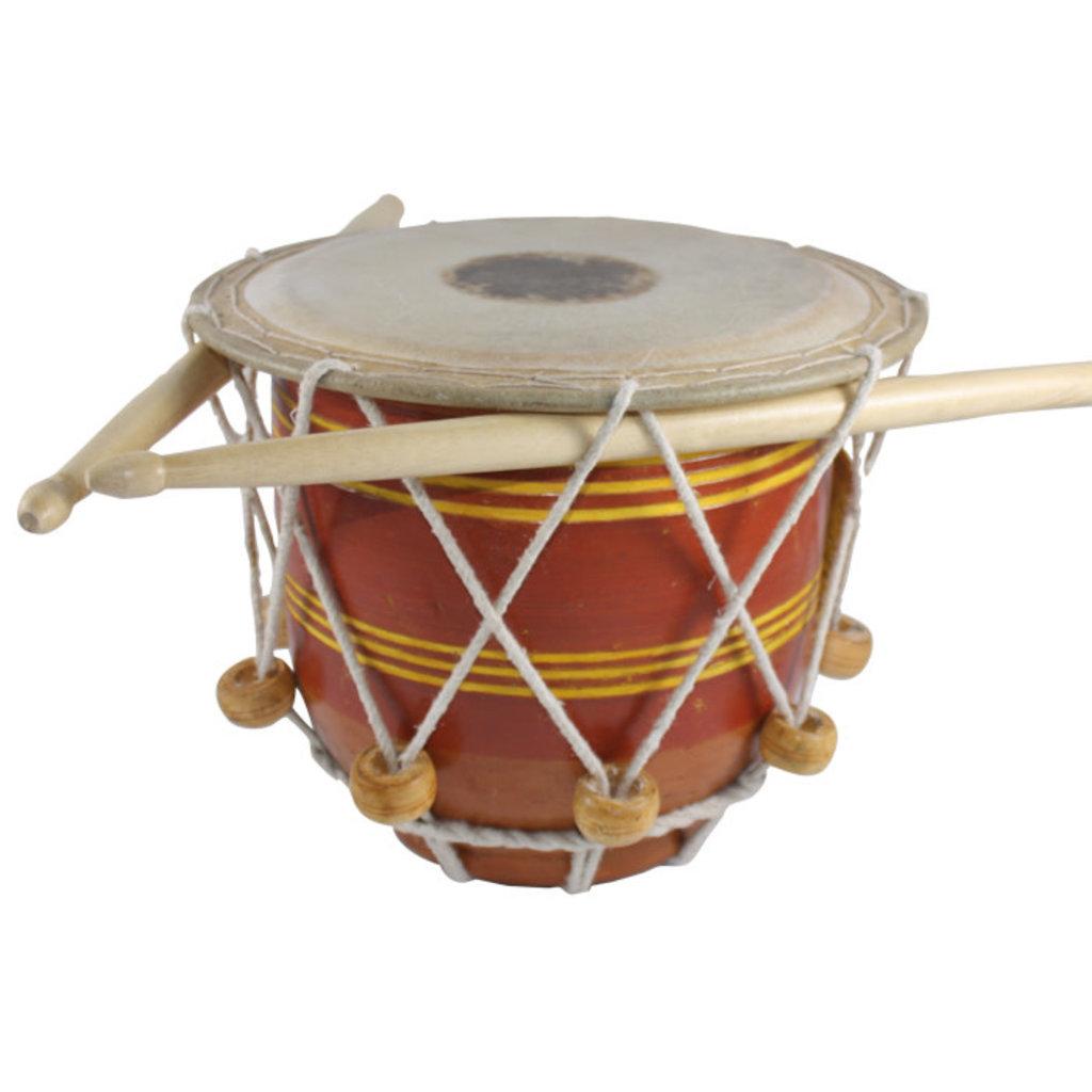 Serrv Terra Cotta Striped Drum