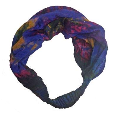 Unique Batik Thai Dye Faux Headwrap