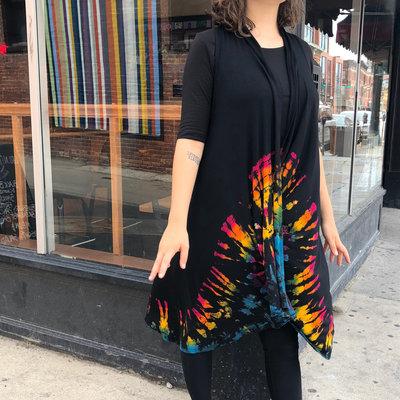 Unique Batik Thai Dye Long Vest