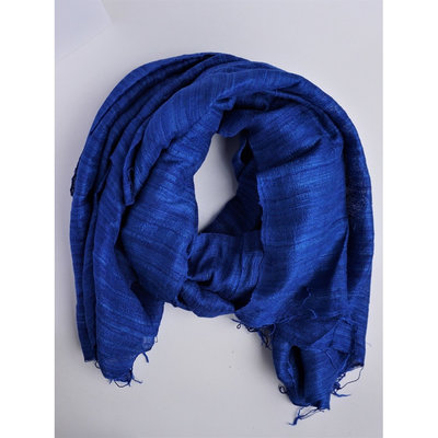 Fair Anita Tien Royal Blue Silk Scarf