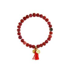 World Finds Kantha Connection Bracelet Red