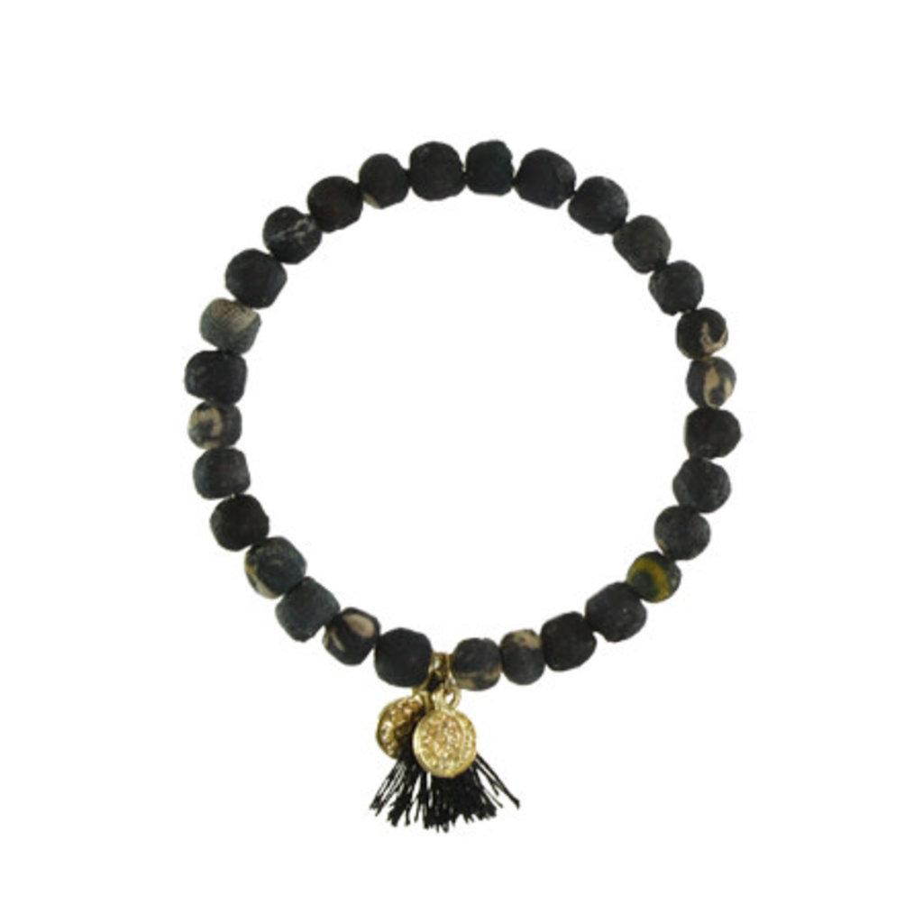 World Finds Black Kantha Connection Bracelet