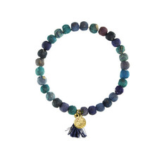 World Finds Blue Kantha Connection Bracelet