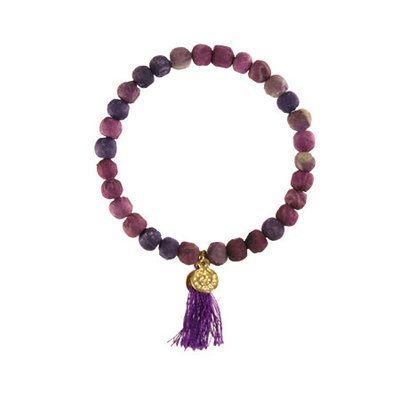 World Finds Purple Kantha Connection Bracelet