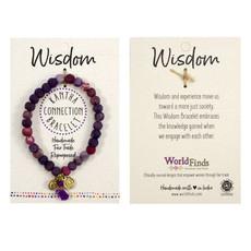 World Finds Purple Kantha Connection Bracelet