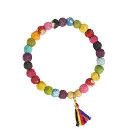World Finds Rainbow Kantha Connection Bracelet