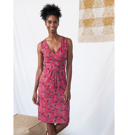 Mata Traders Delia Wrap Dress in Roses Print