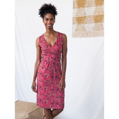 Mata Traders Delia Wrap Dress in Roses Print